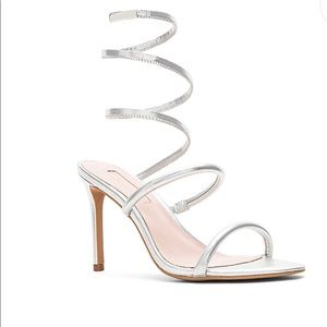 Avec Les Filles Silver High-Heel Sandals